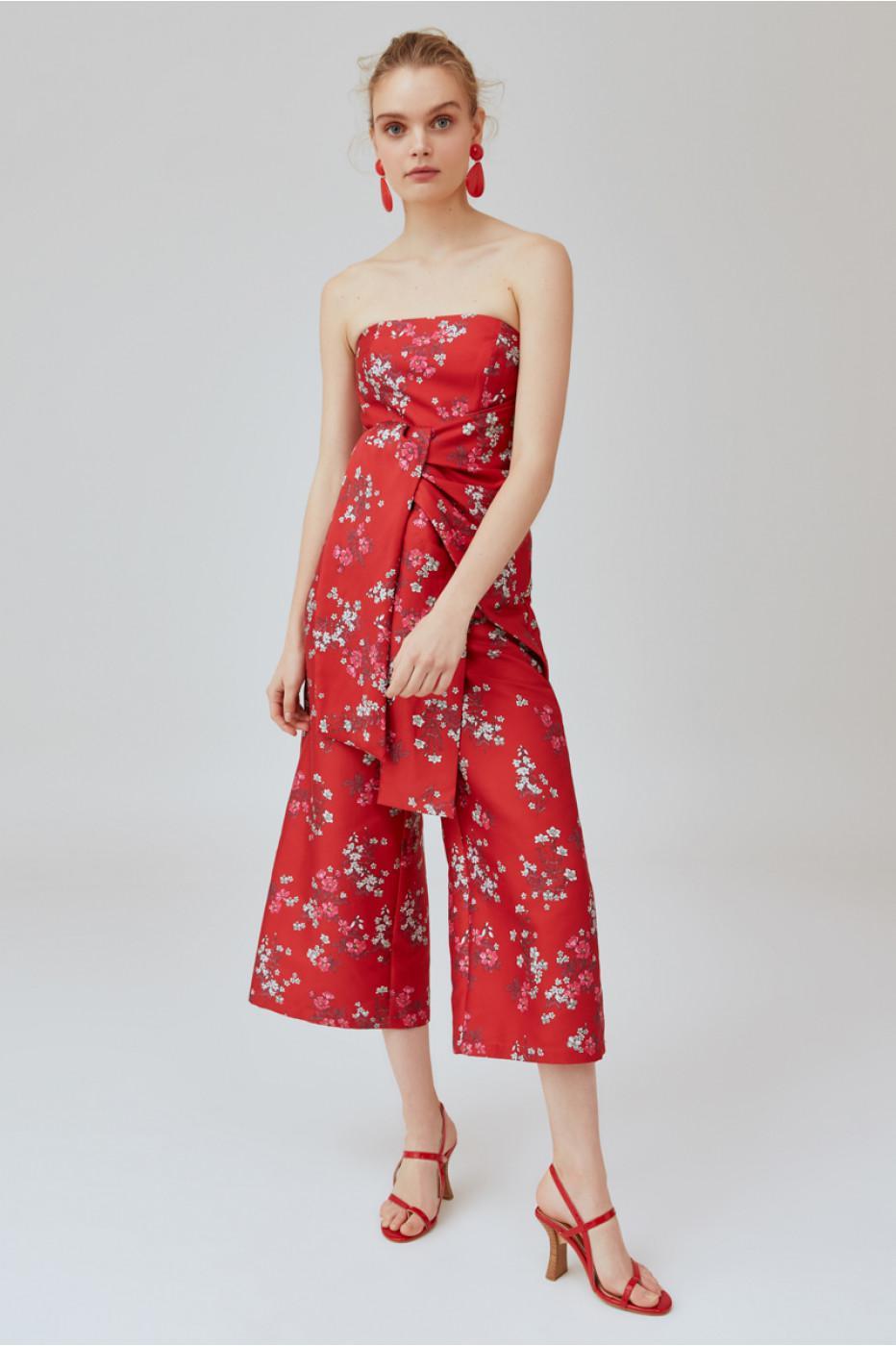 b22d9c73dee0 Keepsake Heart & Soul Strapless Jumpsuit in Red - Lyst