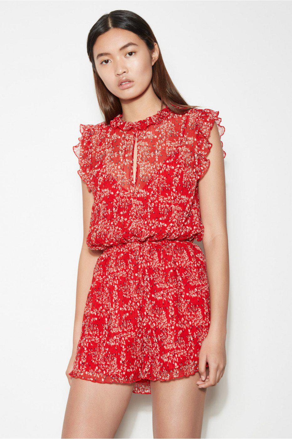 7c557dd497b Lyst - The Fifth Label Apricity Playsuit in Red