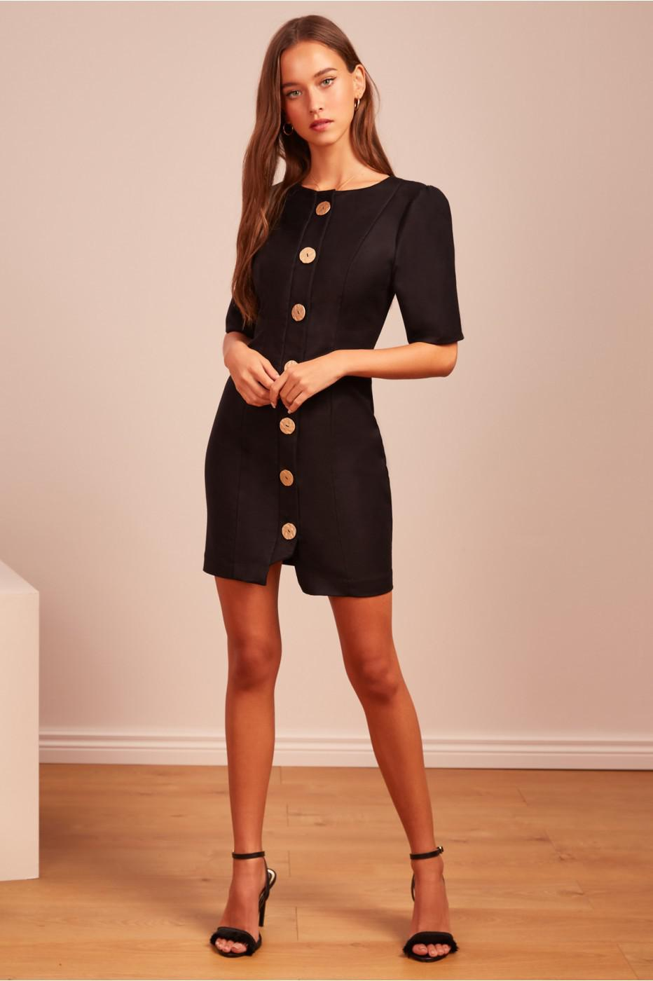 aafde83a19b2 Finders Keepers Pompeii Mini Dress in Black - Lyst