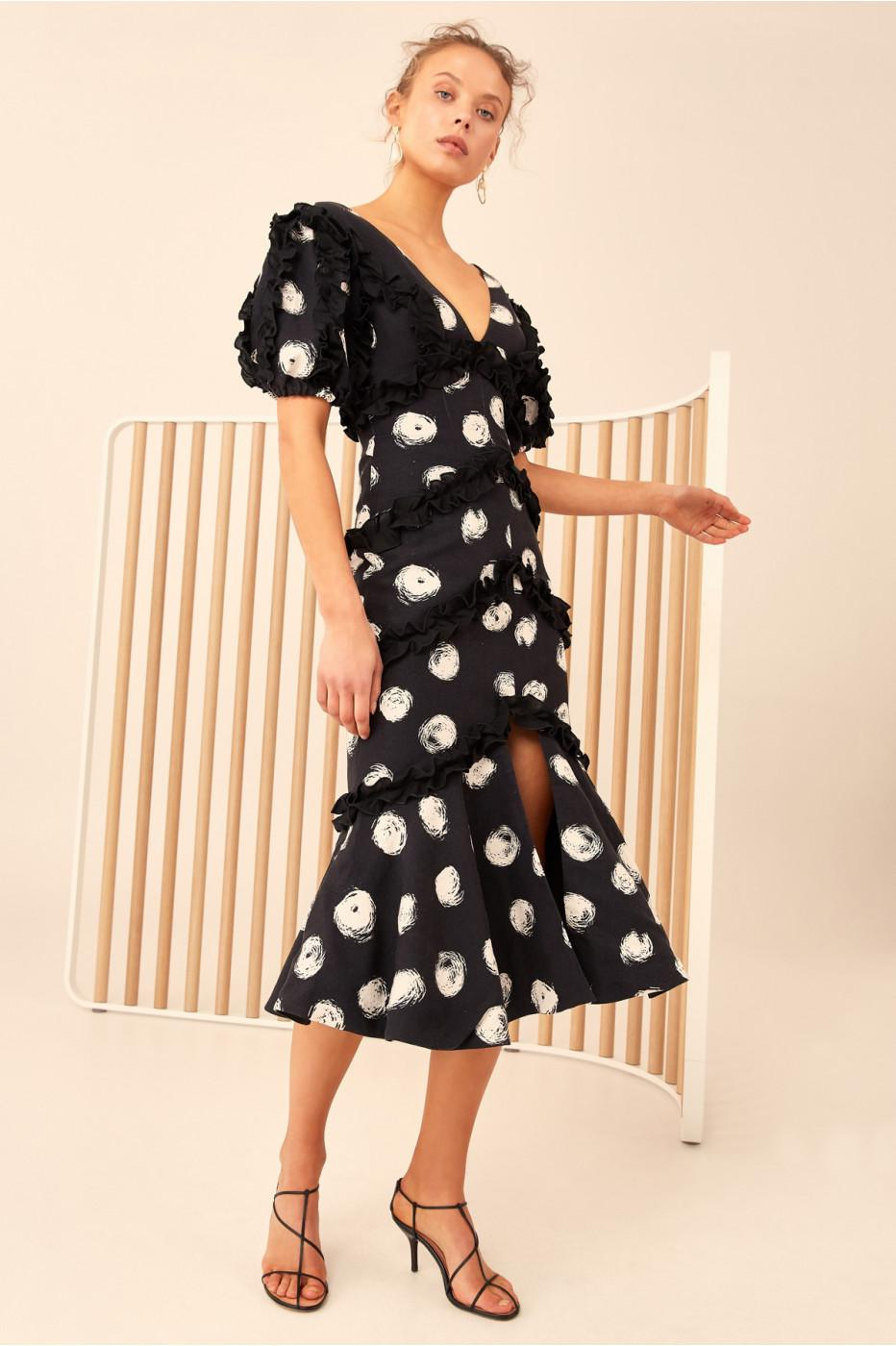 Collective Dress Black In Lyst Cmeo Midi Thousand Times 9IEYDHW2