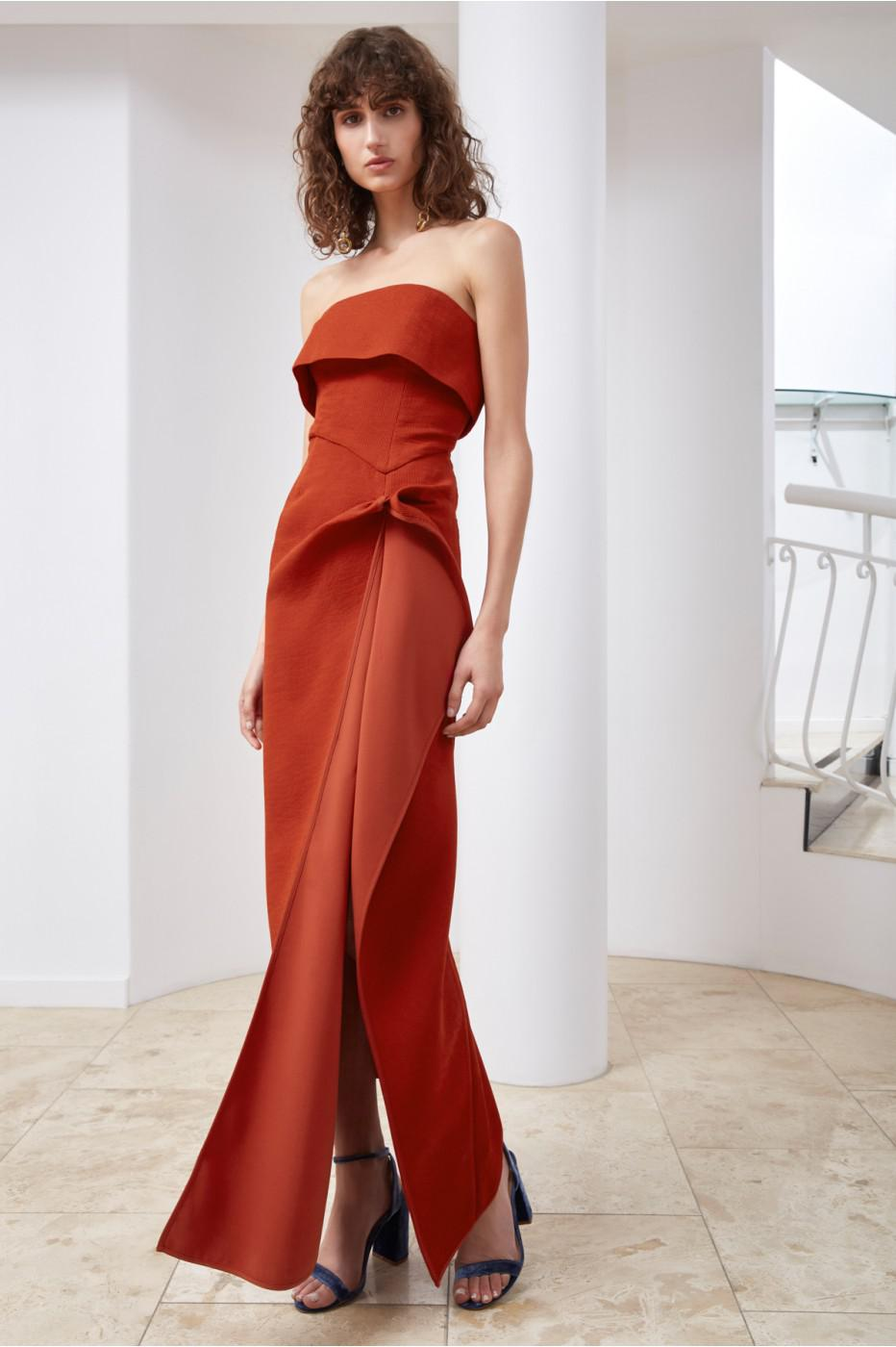3af35cb46fb C meo Collective Fluidity Maxi Dress in Red - Lyst