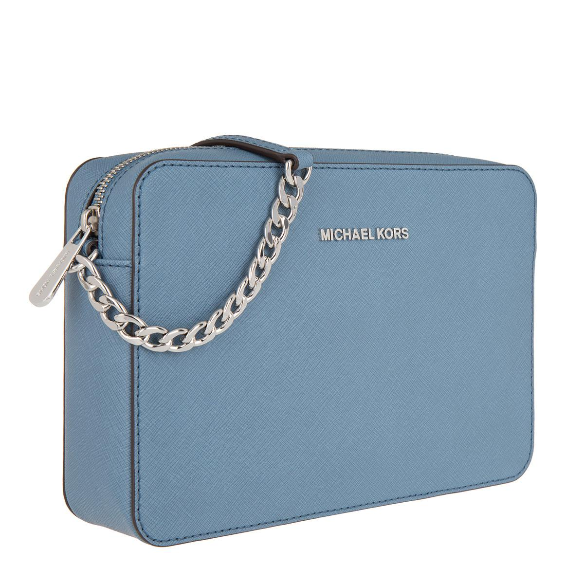 c4666043b5de Michael Kors Jet Set Travel Lg Ew Crossbody Bag Denim in Blue - Lyst