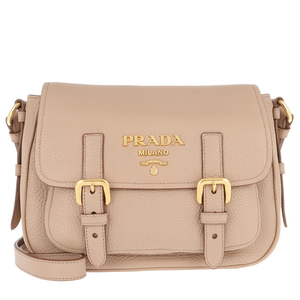 Satchel Bags - Crossbody Bag Leather Cammeo - beige - Satchel Bags for ladies Prada