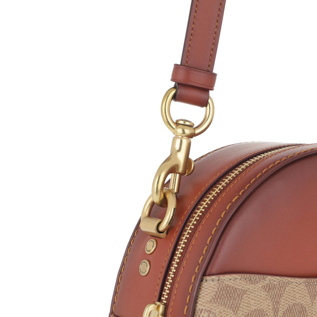 3c5d6bc3d3de COACH - Brown Canvas Signature Canteen Crossbody Tan Rust - Lyst. View  fullscreen