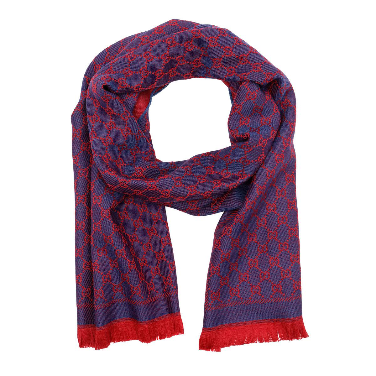 f7c7736c6a8 Gucci New Sten Scarf Red Blue in Red - Lyst