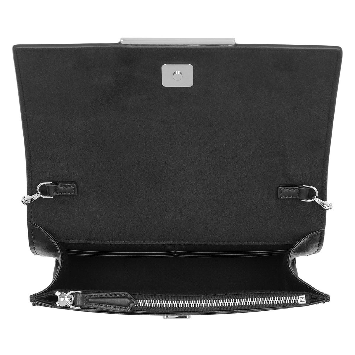 c62f9be278 ... best price fendi tube wallet on chain vitello black in black lyst 73f0a  ee2fb ...