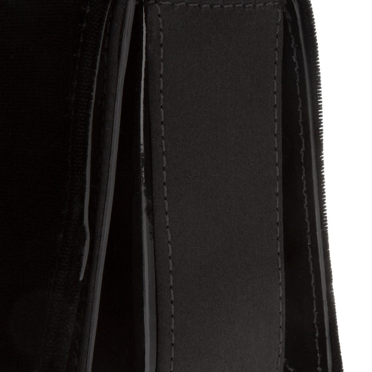 Emporio Armani Velvet Mini Sling Bag Crossbody Black in Black - Lyst 1b25ba3eda