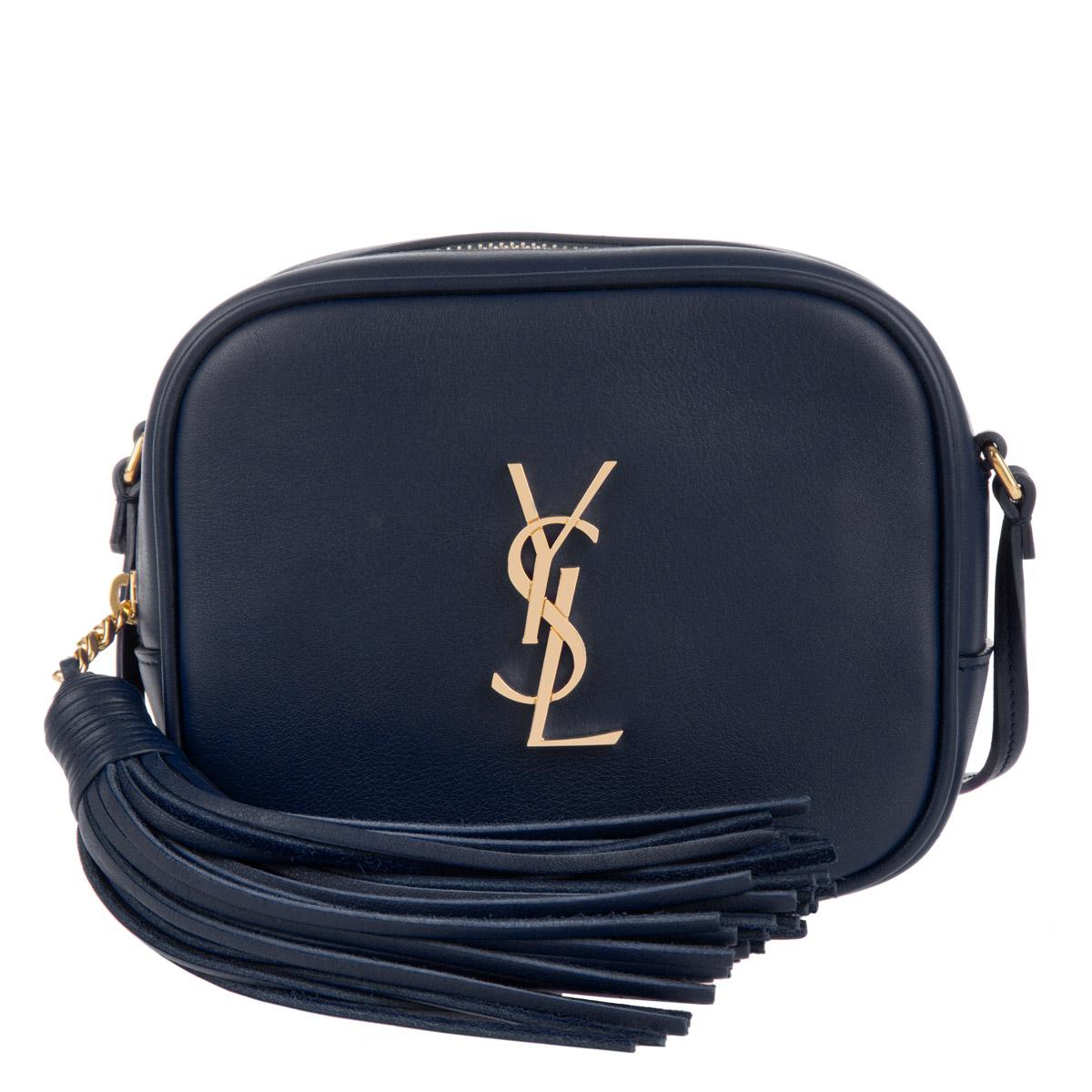 Saint Laurent Ysl Pouch Monogramme Crossbody Marine nero in Blue - Lyst 7a54074fd84f0