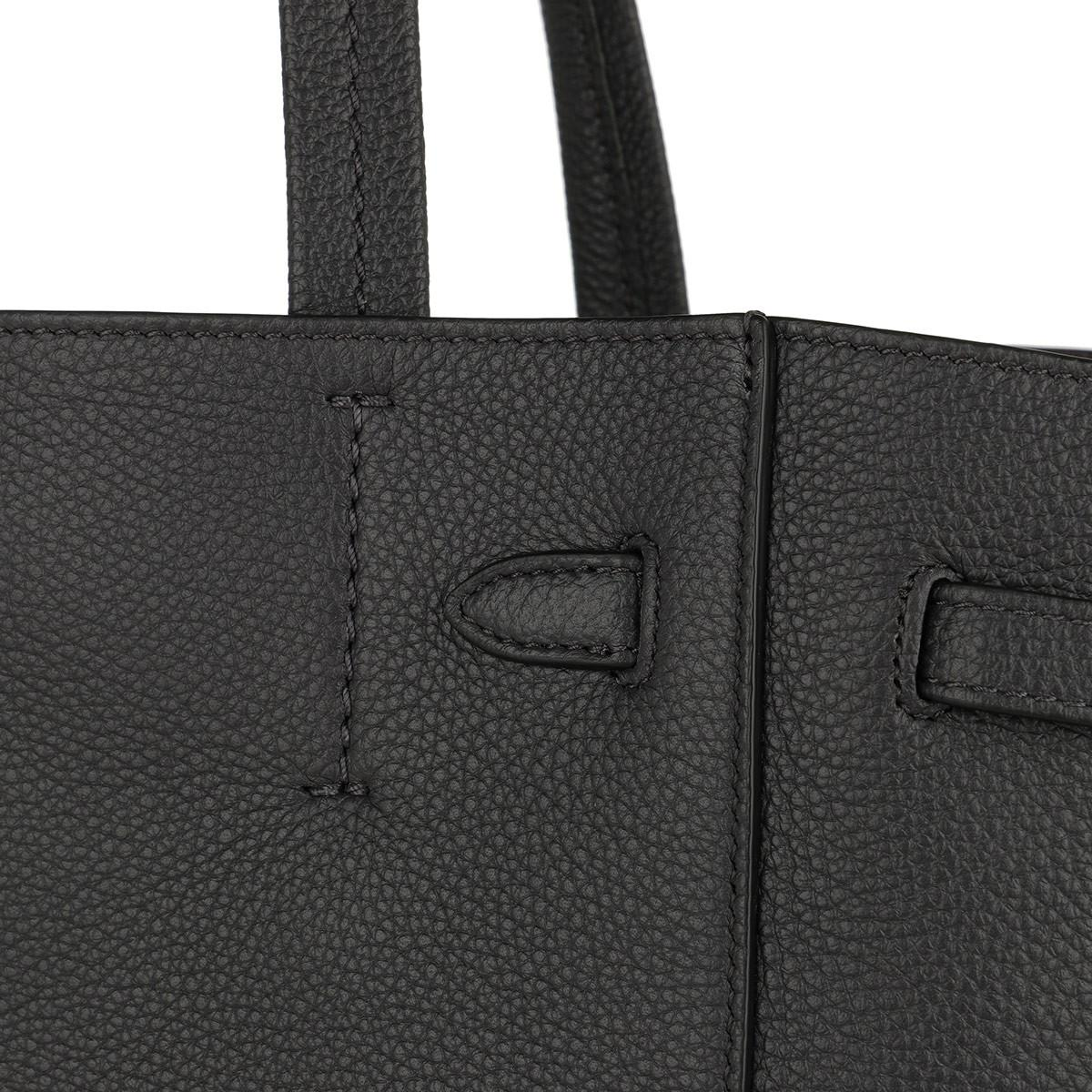 42f4724b5be5 Céline Small Cabas Phantom Soft Grained Calfskin Liquorice in Black ...