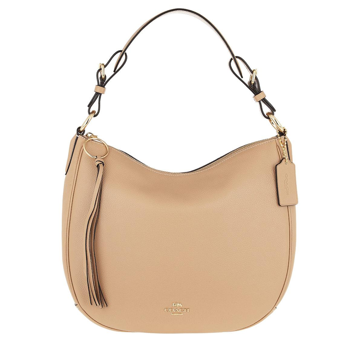 fad11b4b074d COACH Polished Pebble Leather Sutton Hobo Beechwood in Natural - Lyst