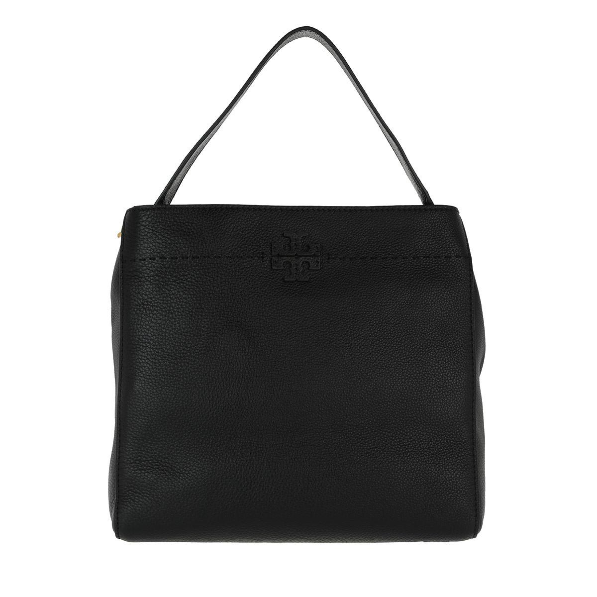 29ff081855e Tory Burch Mcgraw Hobo Bag Black in Black - Lyst