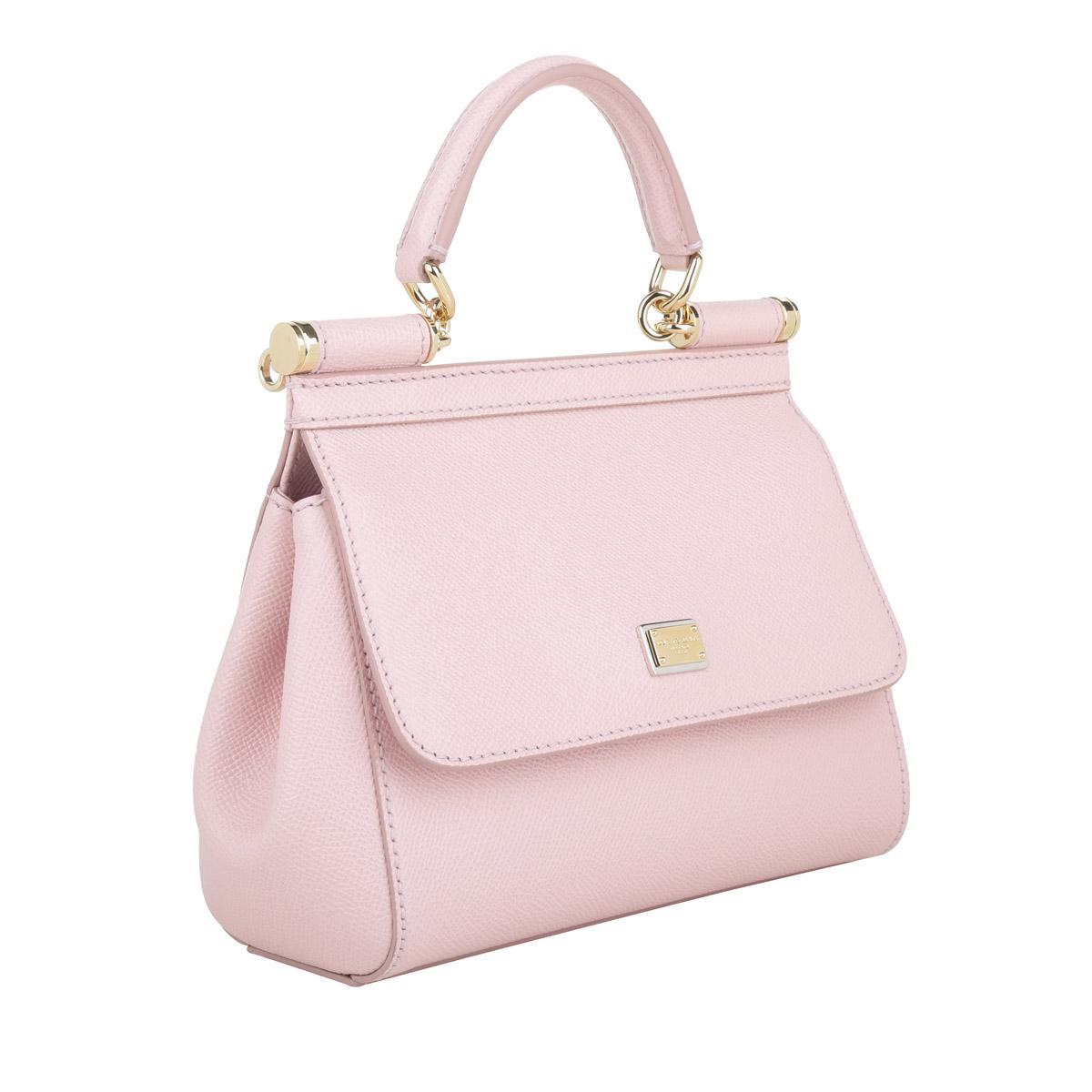 e4be0b541bf0 Dolce   Gabbana - Pink Mini Bag Sicily Vitello Stampa Dauphine Rosa Carne 2  - Lyst. View fullscreen