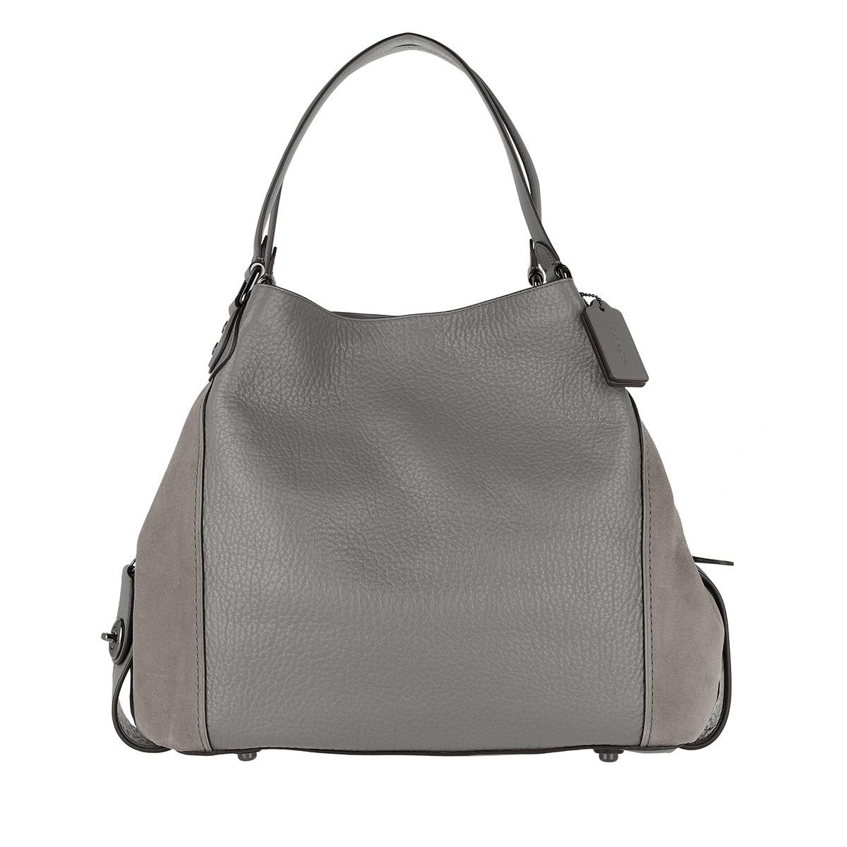 Tote - Edie 42 Mixed Leather Shoulder Bag Heather Grey - grey - Tote for ladies Coach 5FbuUn