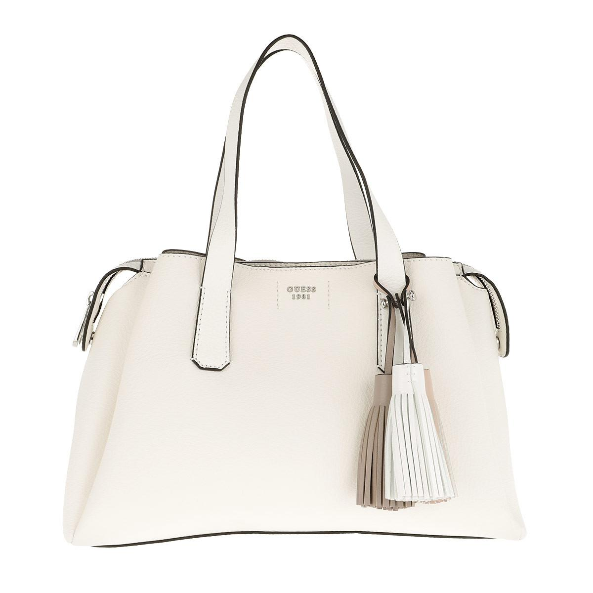 Guess Trudy Girlfriend Satchel Bag White in White - Lyst 6d989bf9ba33a