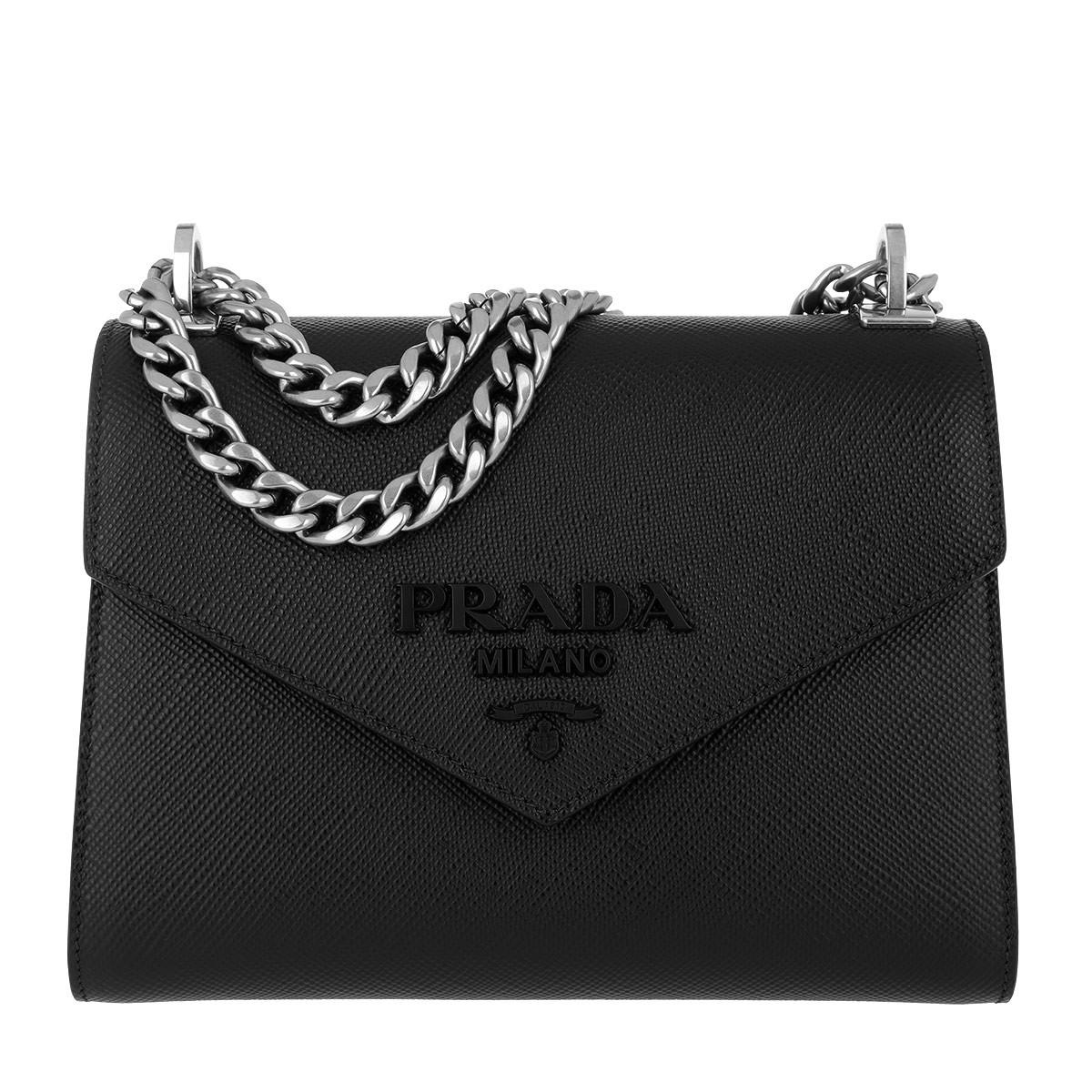 3fbd9a8812ad83 Prada - Black Monochrome Crossbody Bag Medium Nero - Lyst. View fullscreen