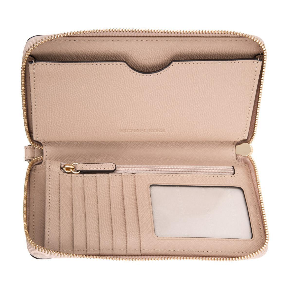 45fee2e6ad30 Michael Kors Mercer Lg Flat Multifunction Phone Case Leather Oyster ...