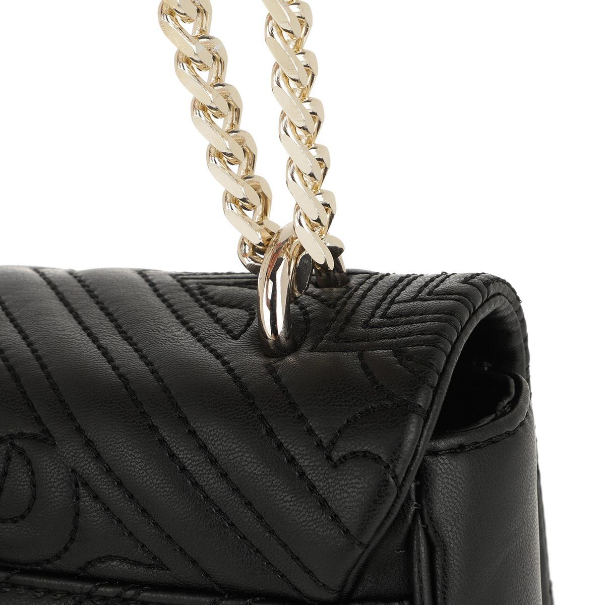 49622b553b36 Versace Jeans Embroidered Chain Crossbody Bag Black in Black - Lyst