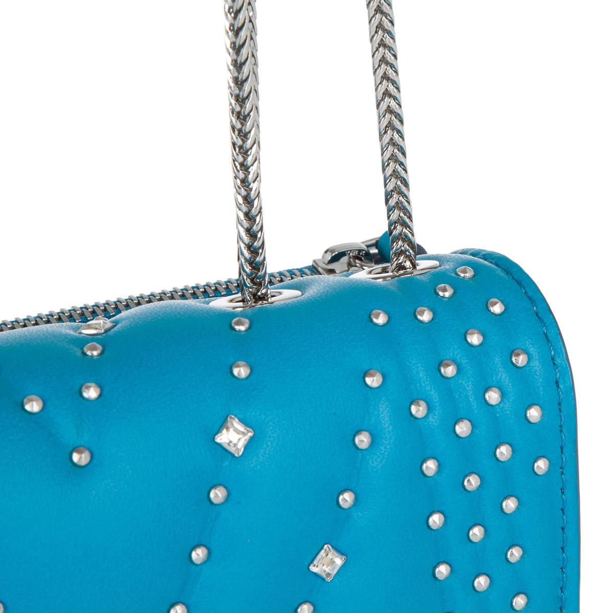 Mcm Diamond Disco Mini Crossbody Tile Blue in Blue - Lyst 7e9d9b0303a73