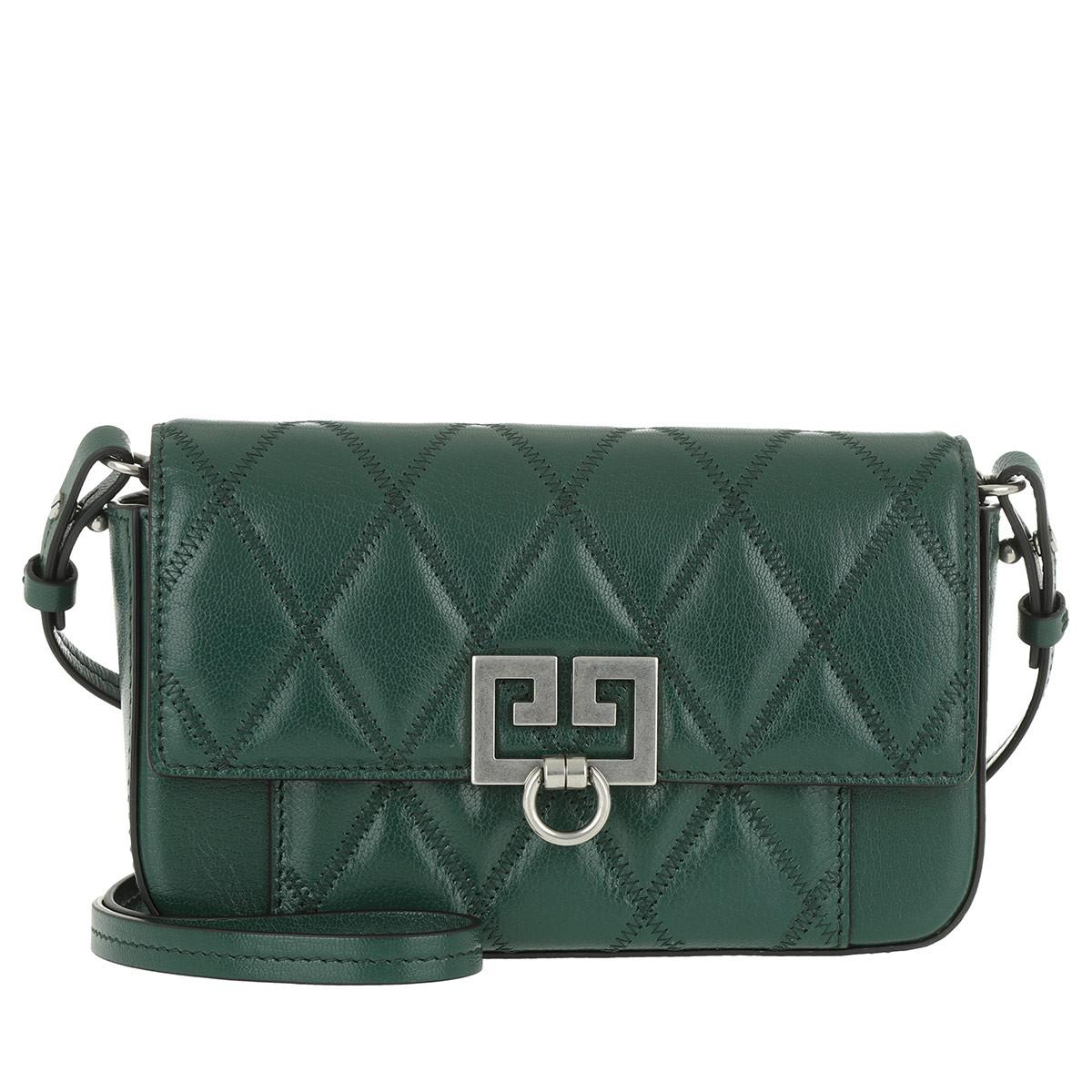 838684e2e498 Givenchy Mini Pocket Bag Diamond Quilted Leather Forest Green in ...