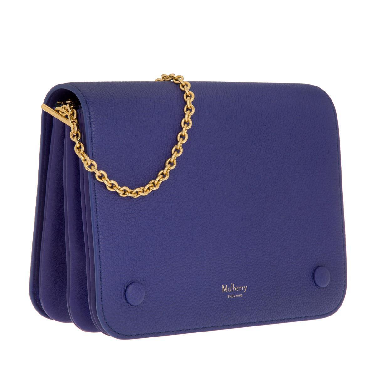 Mulberry Clifton Small Crossbody Bag Classic Grain Indigo in Blue - Lyst 9601fd016b524