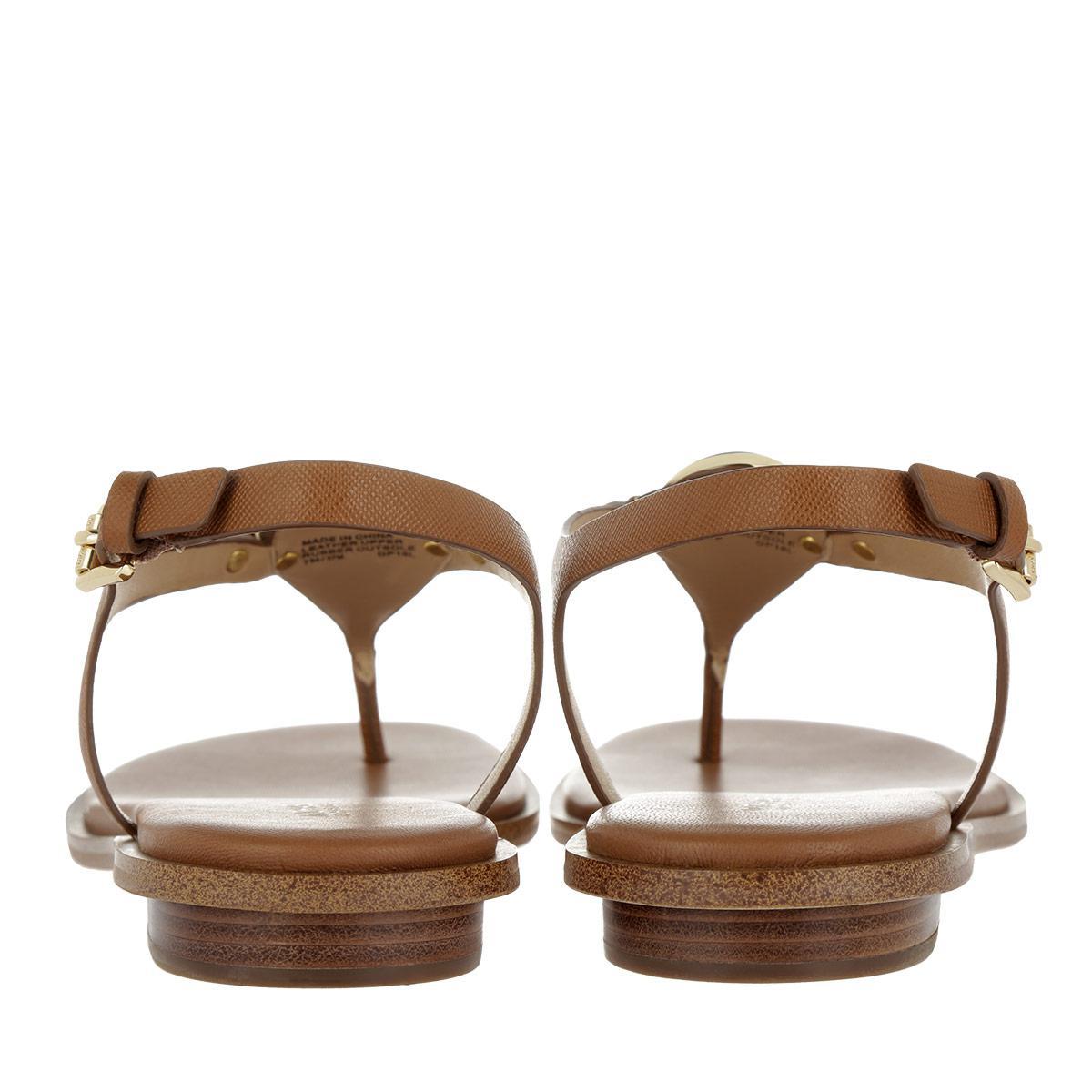 94c3d34fc7b3 Michael Kors Lee Thong Leather Sandal Acorn in Brown - Lyst