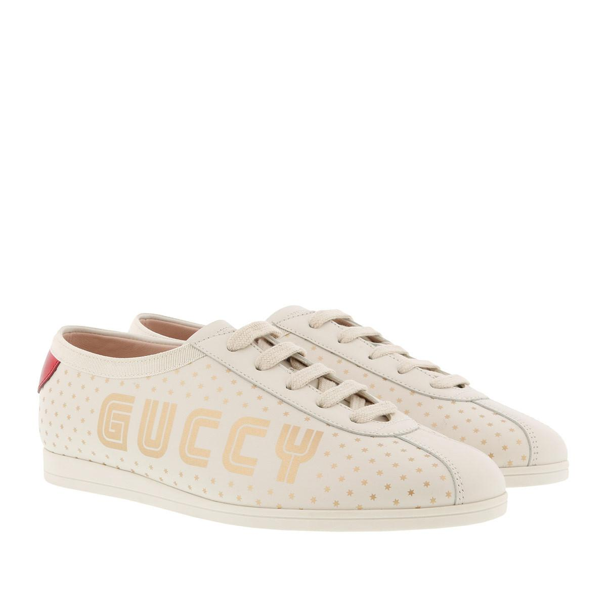fb537af502a Gucci Replica Guccy Sneakers White in White - Lyst