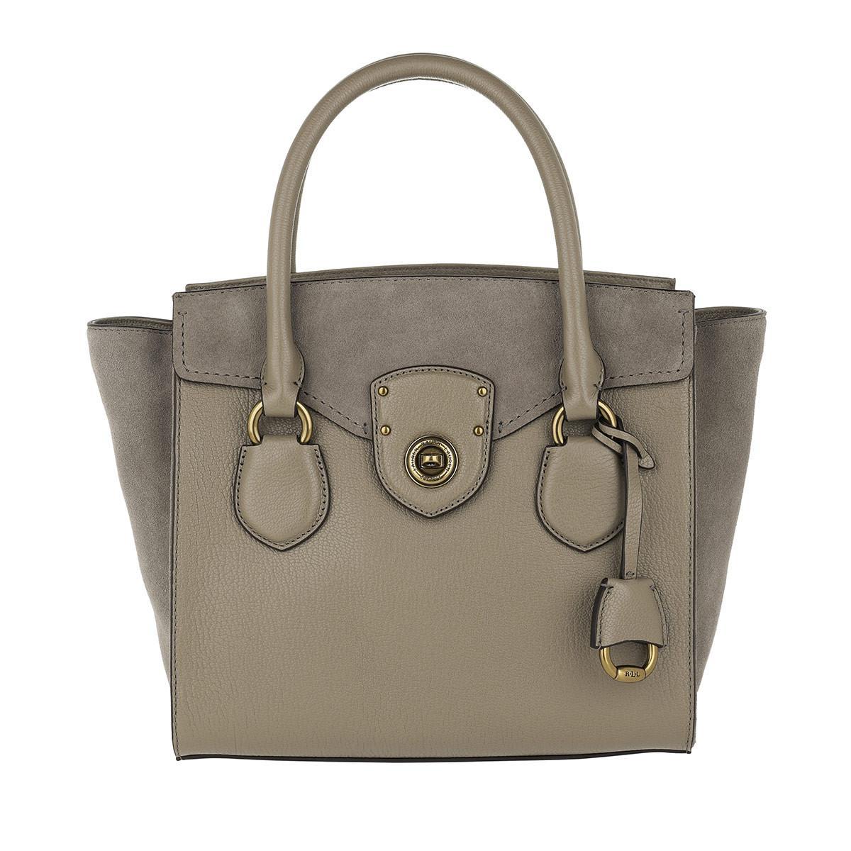 Lauren by Ralph Lauren. Women s Millbrook Satchel Bag Medium Taupe 9e0d234c73