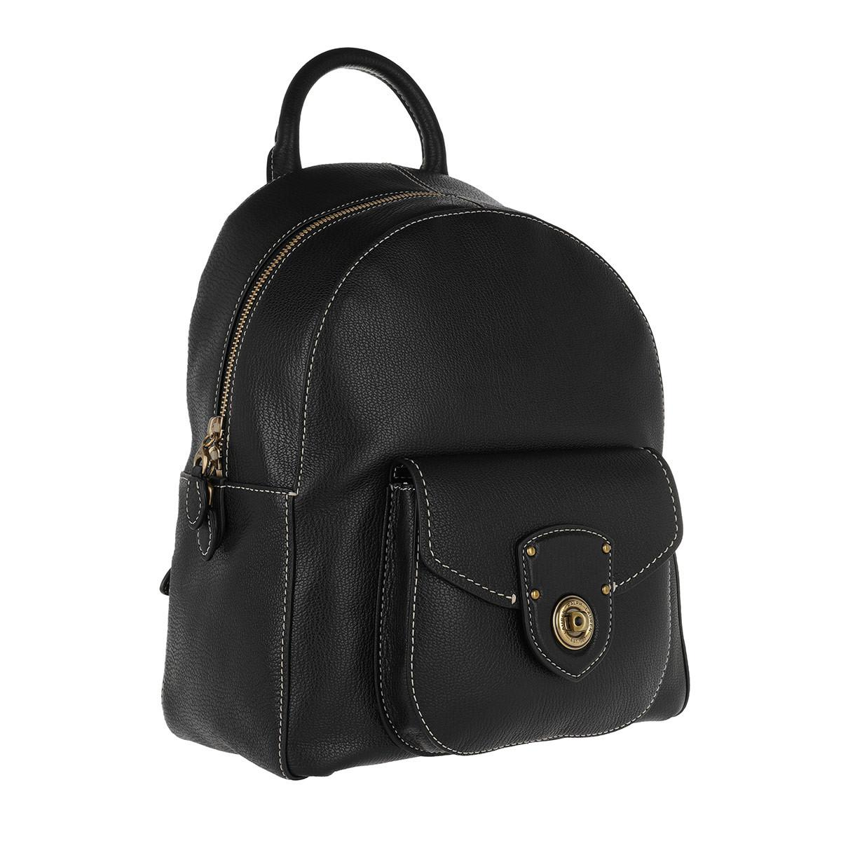 5e16f0da23 Lauren by Ralph Lauren Millbrook Backpack Medium Black in Black - Lyst