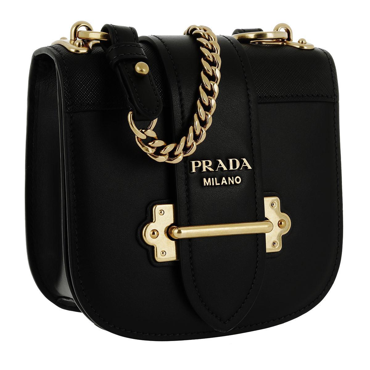 098139e747fd Prada Pionnière Bag Calf/saffiano Medium Nero in Black - Lyst