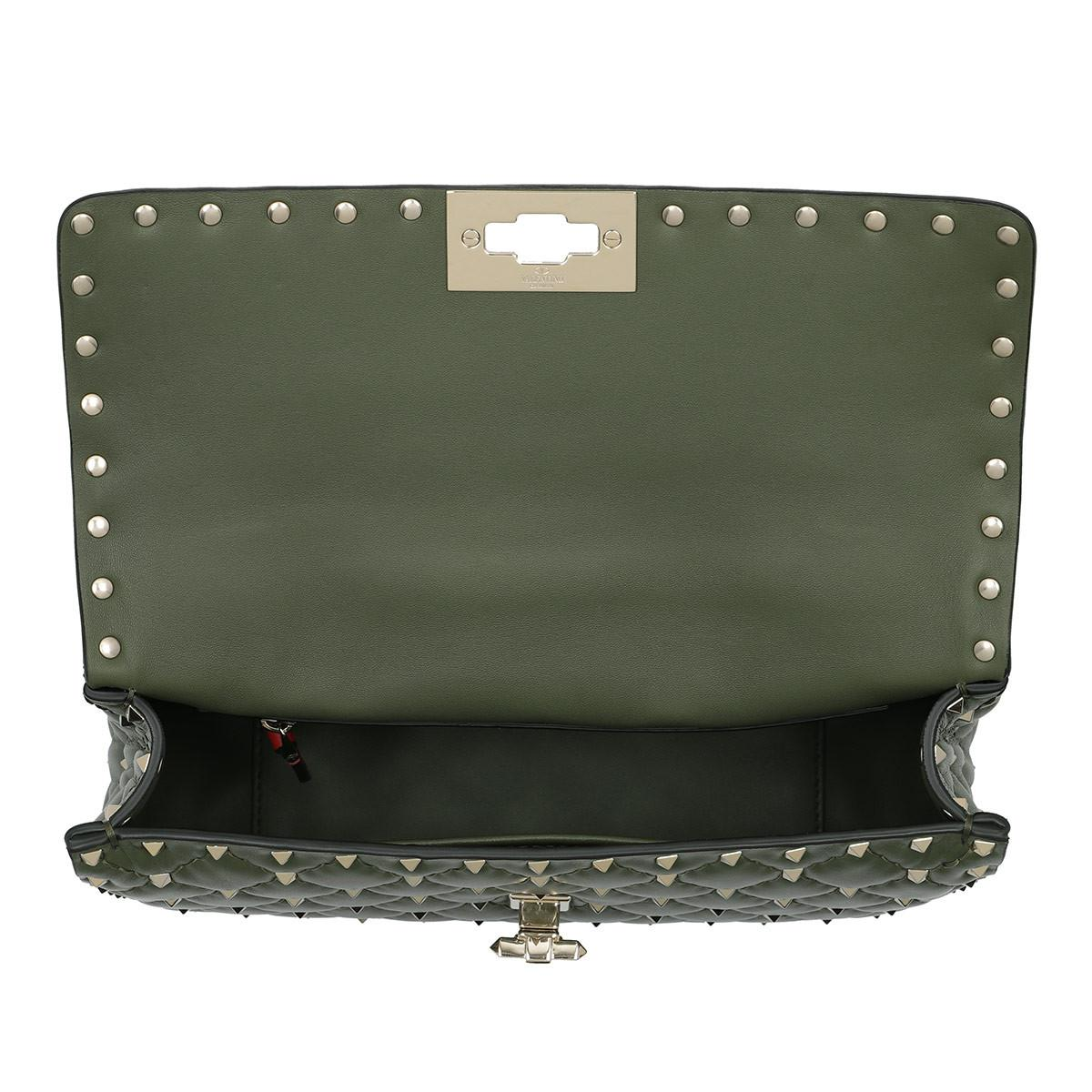 Rockstud Saddle Bag in Oasis Khaki Calfskin Valentino Cheap Sale Big Discount Largest Supplier Cheap Price Best Prices For Sale Discount Cheapest Price Discount Enjoy R4Heev8