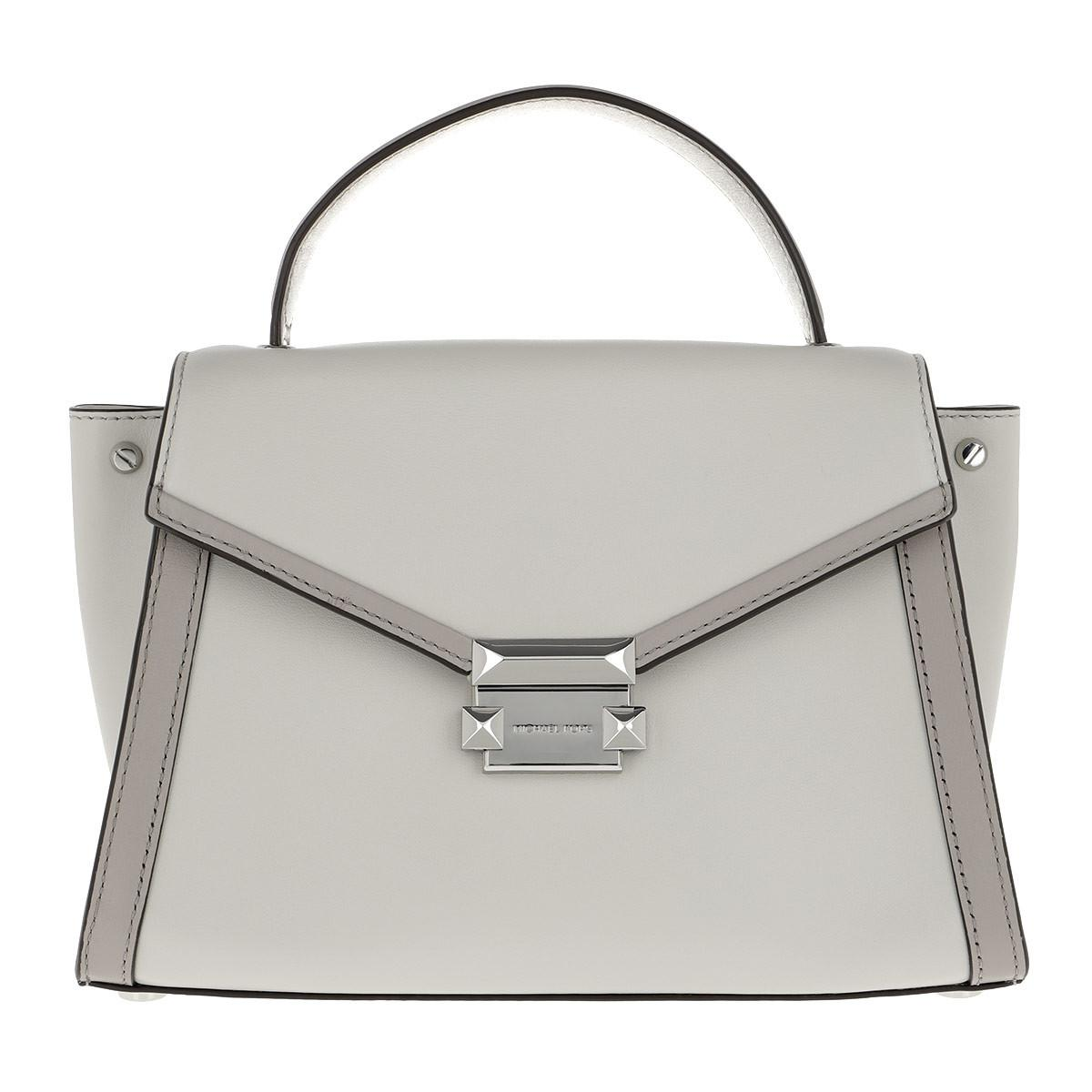 d77d485dd565eb Michael Kors Whitney Md Th Satchel Bag Alumin/prgry in Gray - Save ...