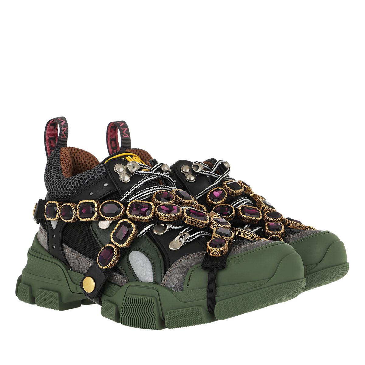 8e8a80897c2e Gucci Flashtrek Jewel Sneaker - Save 27% - Lyst