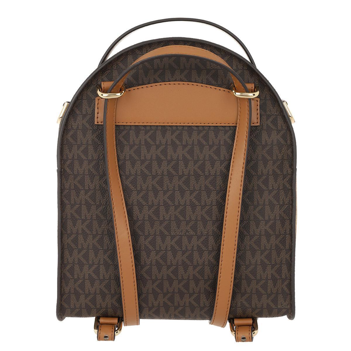 375ec0b9b8a766 Michael Kors Jessa Sm Convertible Backpack Brn/btrn/acr in Brown - Lyst