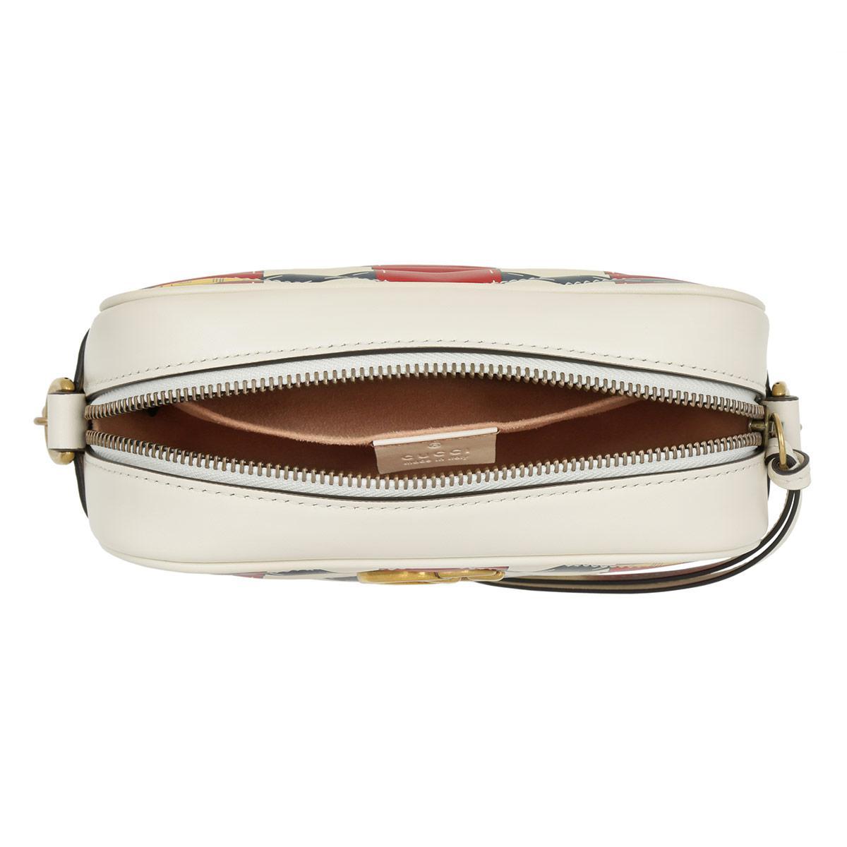 b5a8db05ae3 Gucci Gg Marmont Mini Crossbody Camera Bag Trompe-l oeil-print White ...