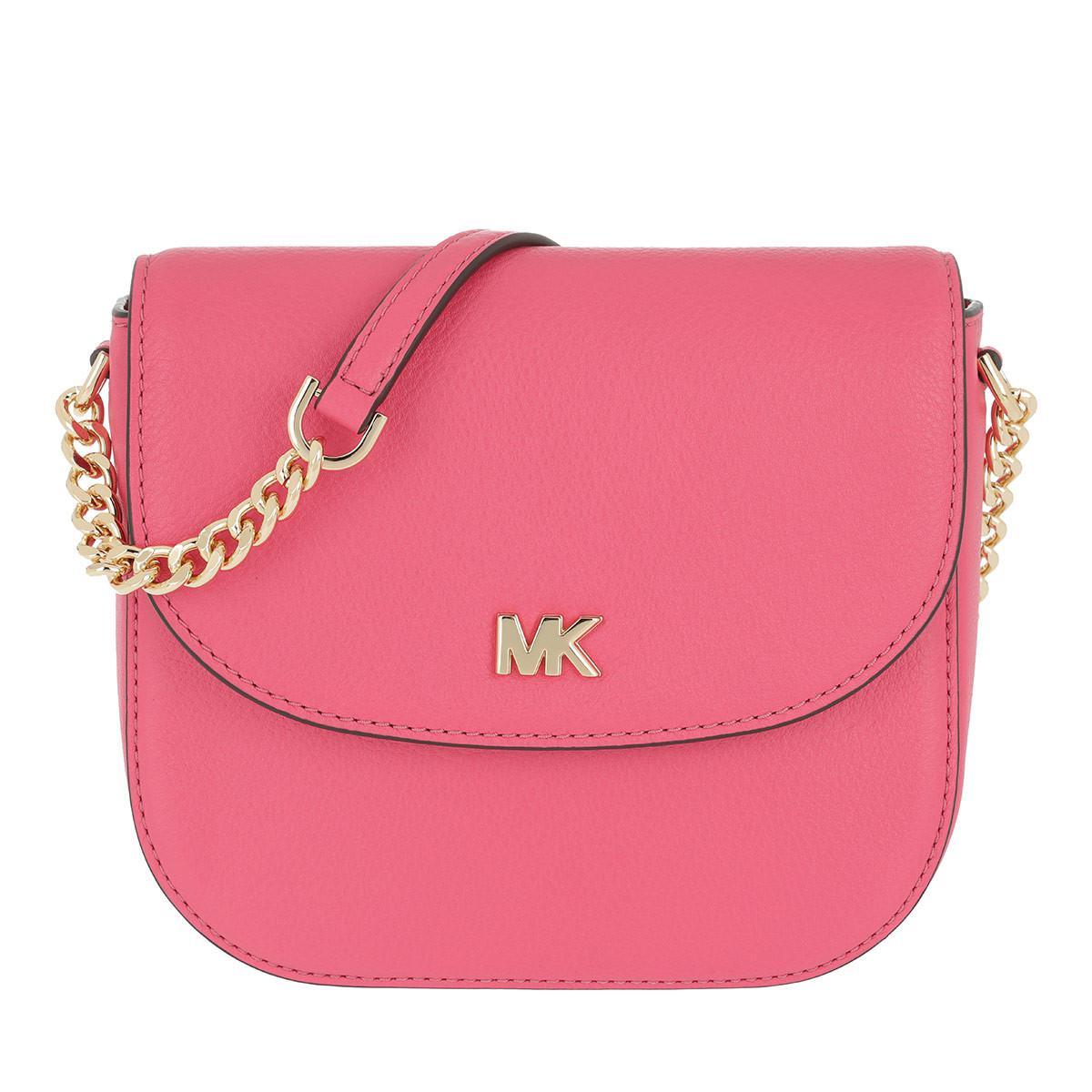 9f7b714acfa752 Michael Kors Half Dome Crossbody Bag Rose Pink in Pink - Lyst