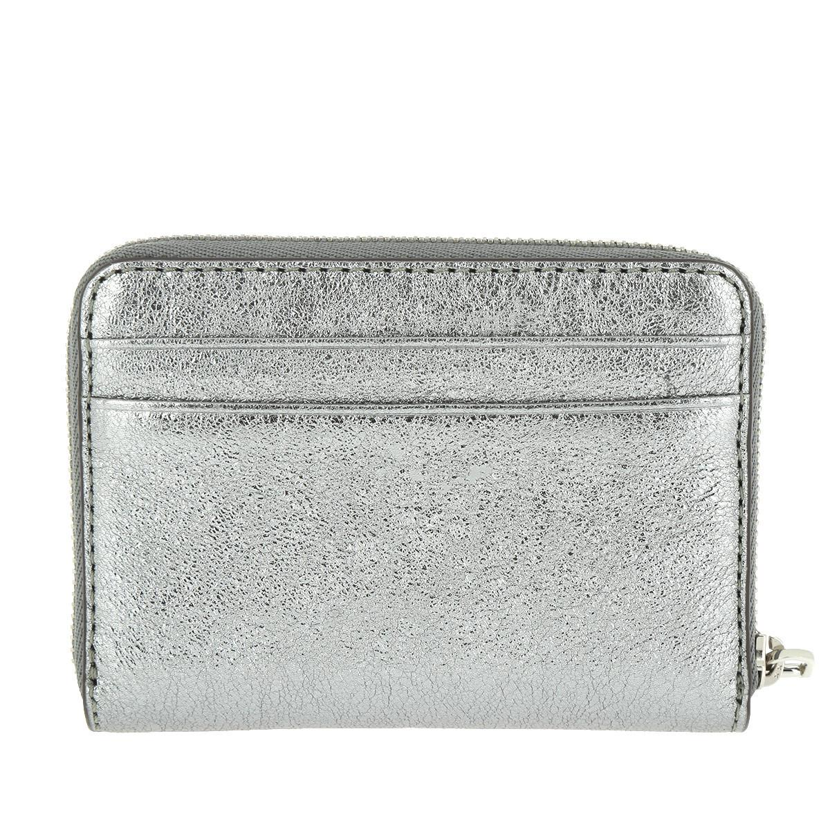 eae828c662ab88 Michael Kors Money Pieces Za Card Case Lt Pewter in Metallic - Lyst