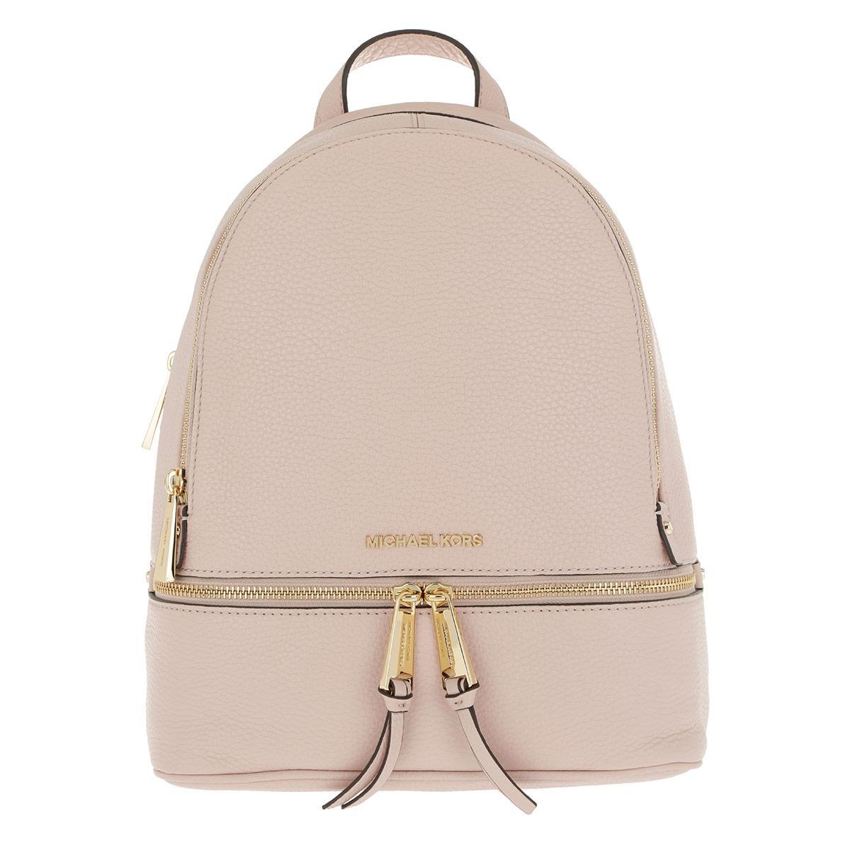 4f14d70a6d6d9 Michael Kors - Rhea Zip Medium Backpack Soft Pink - Lyst. View fullscreen