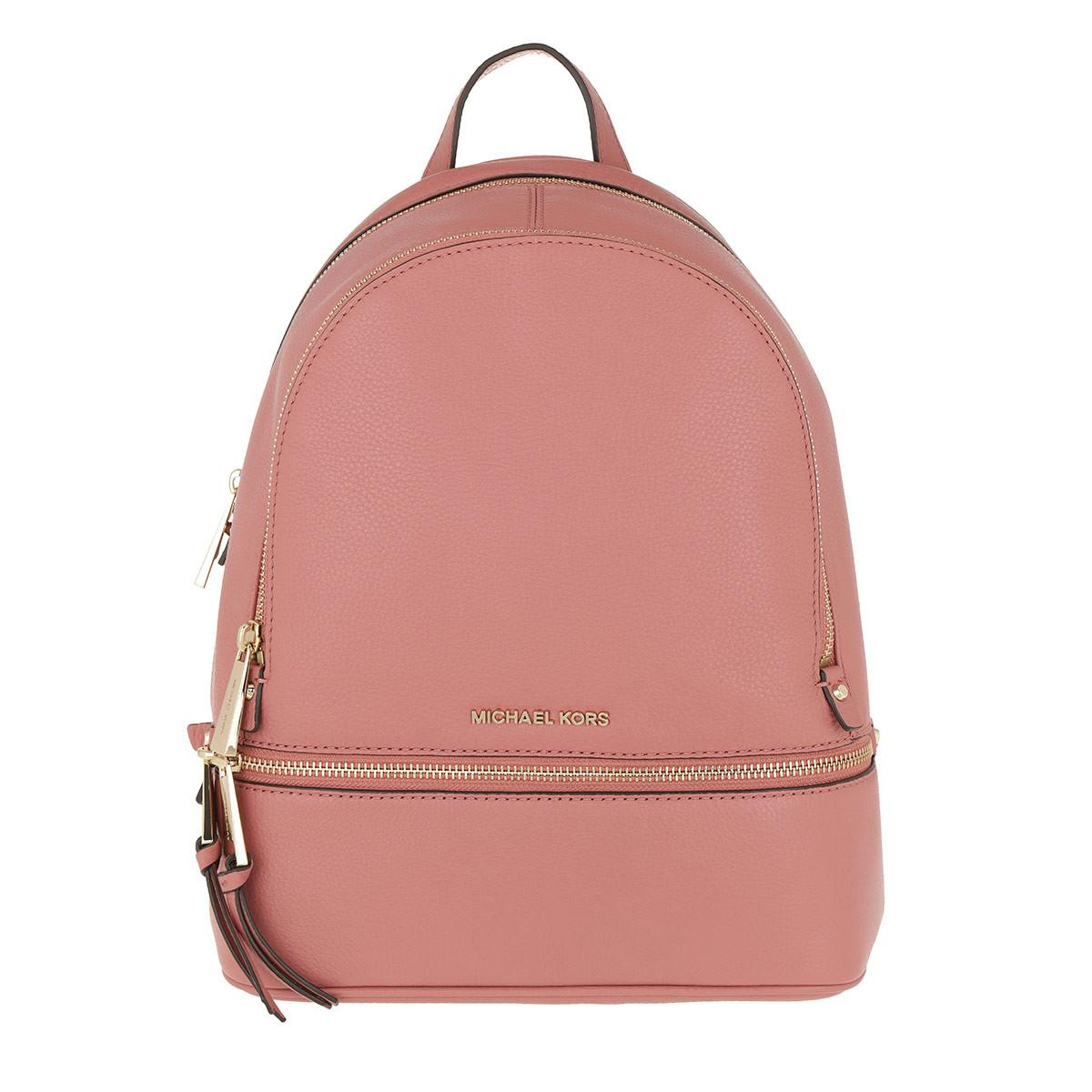 Michael Kors - Pink Rhea Zip Md Backpack Rose - Lyst. View fullscreen 04e3f6db6d