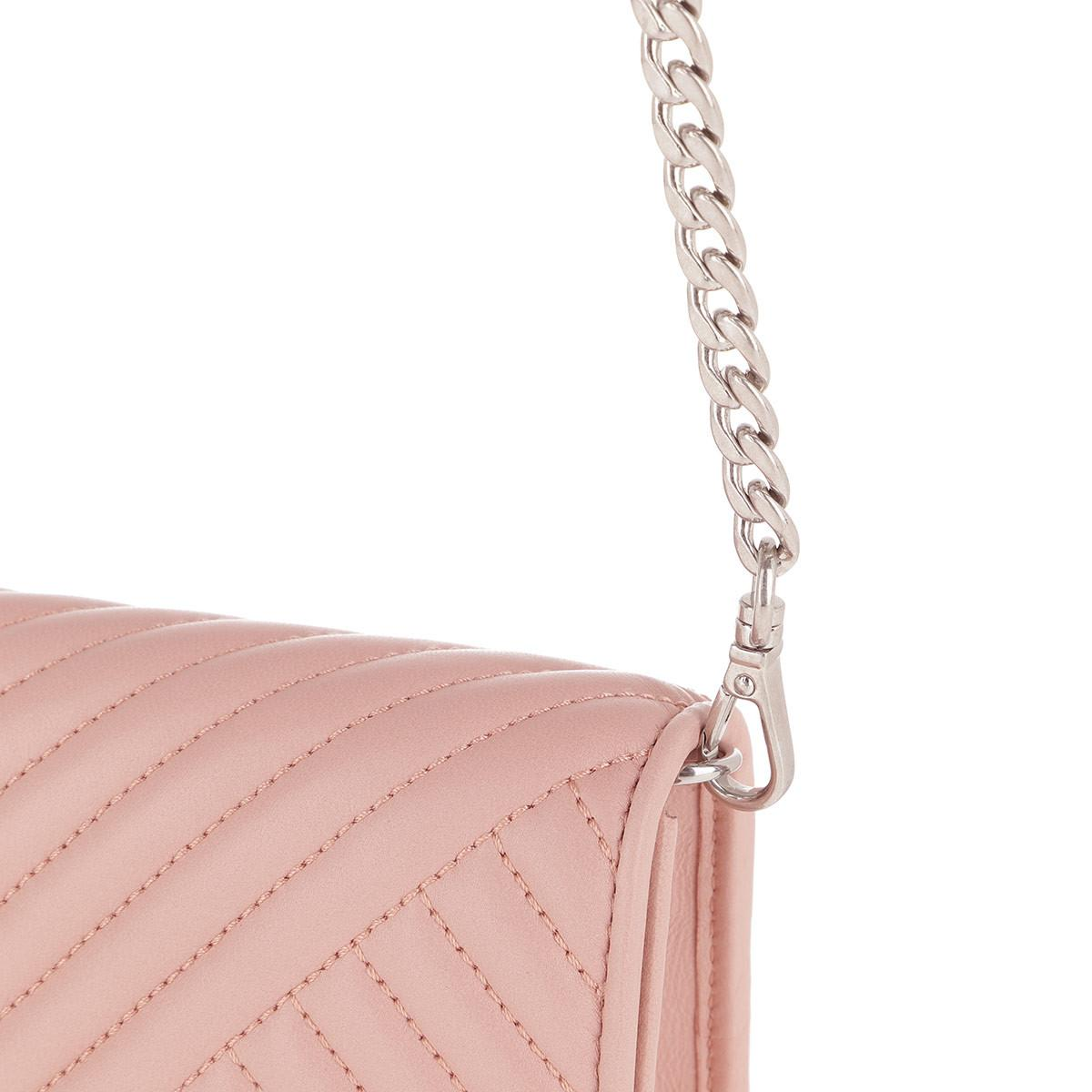 f943990cb4f0d4 Prada - Pink Mini Crossbody Bag Quilted Leather Orchidea - Lyst. View  fullscreen