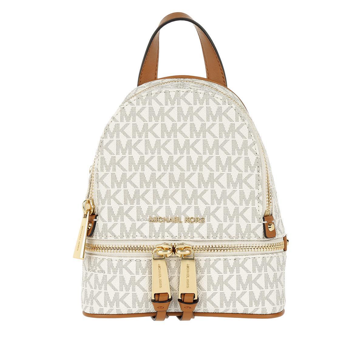aca999c92cf0 Michael Kors - Multicolor Rhea Zip Xs Messenger Backpack Vanilla - Lyst.  View fullscreen