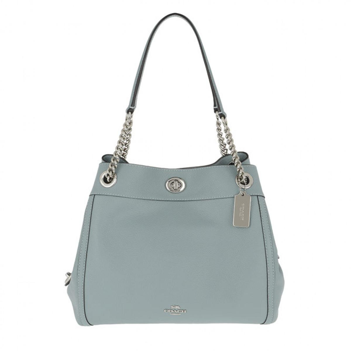 a7c7e2c2c3c COACH. Women s Polished Leather Turnlock Edie Shoulder Bag Sage