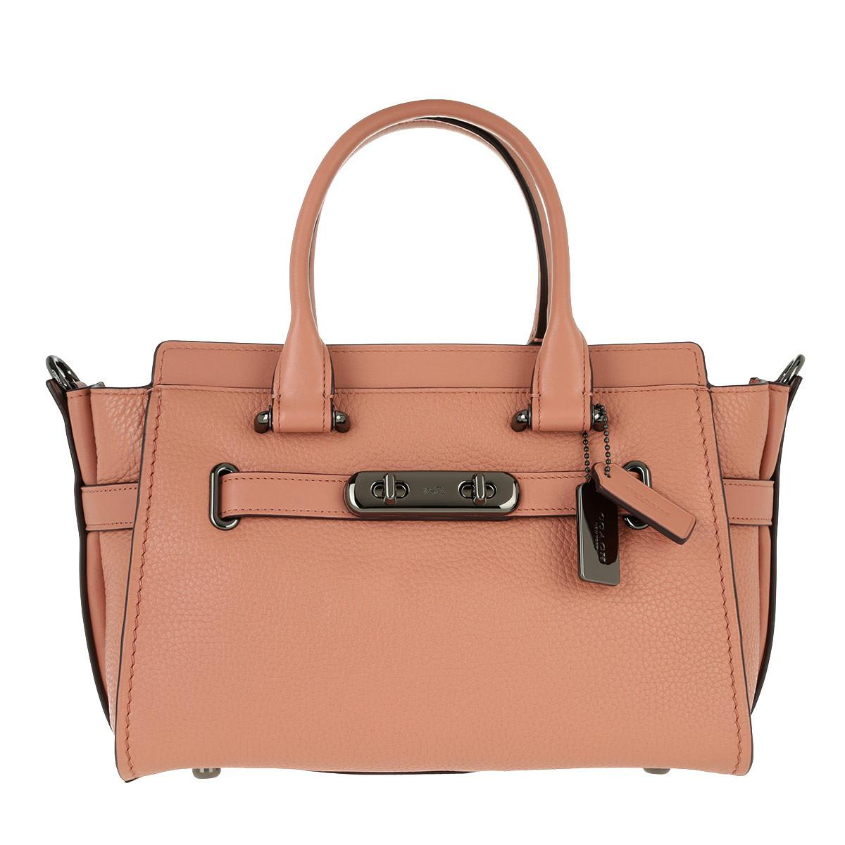 2455d9826687 COACH Swagger 27 Leather Tote Melon - Lyst