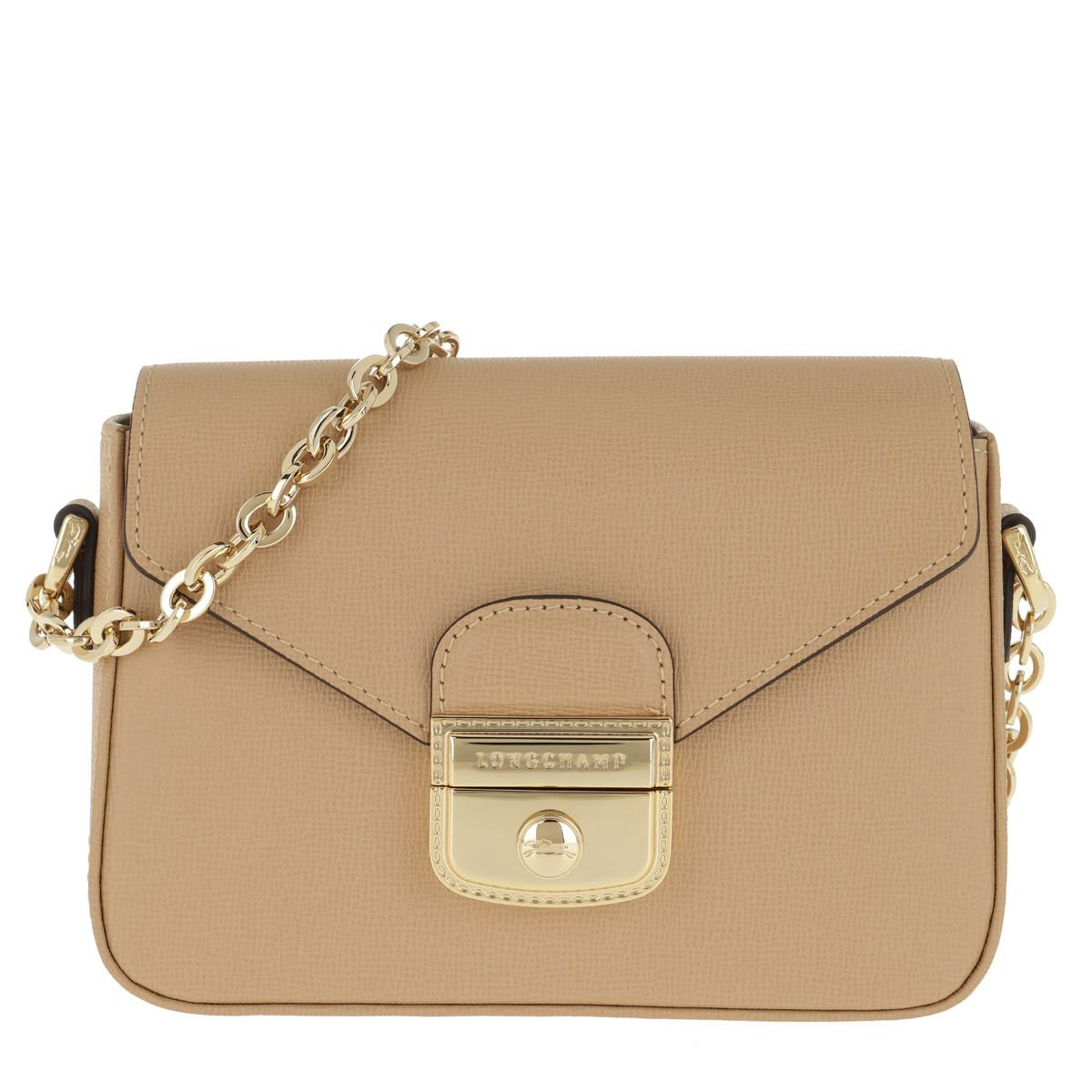 0ef8f7f41160 Longchamp Le Pliage Héritage Messenger Xs Natural in Natural - Lyst