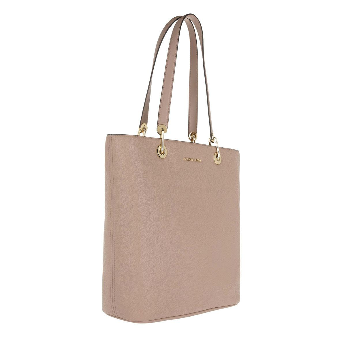 37fbac7bc256 Michael Kors Raven Lg Ns Tz Tote Leather Fawn - Lyst