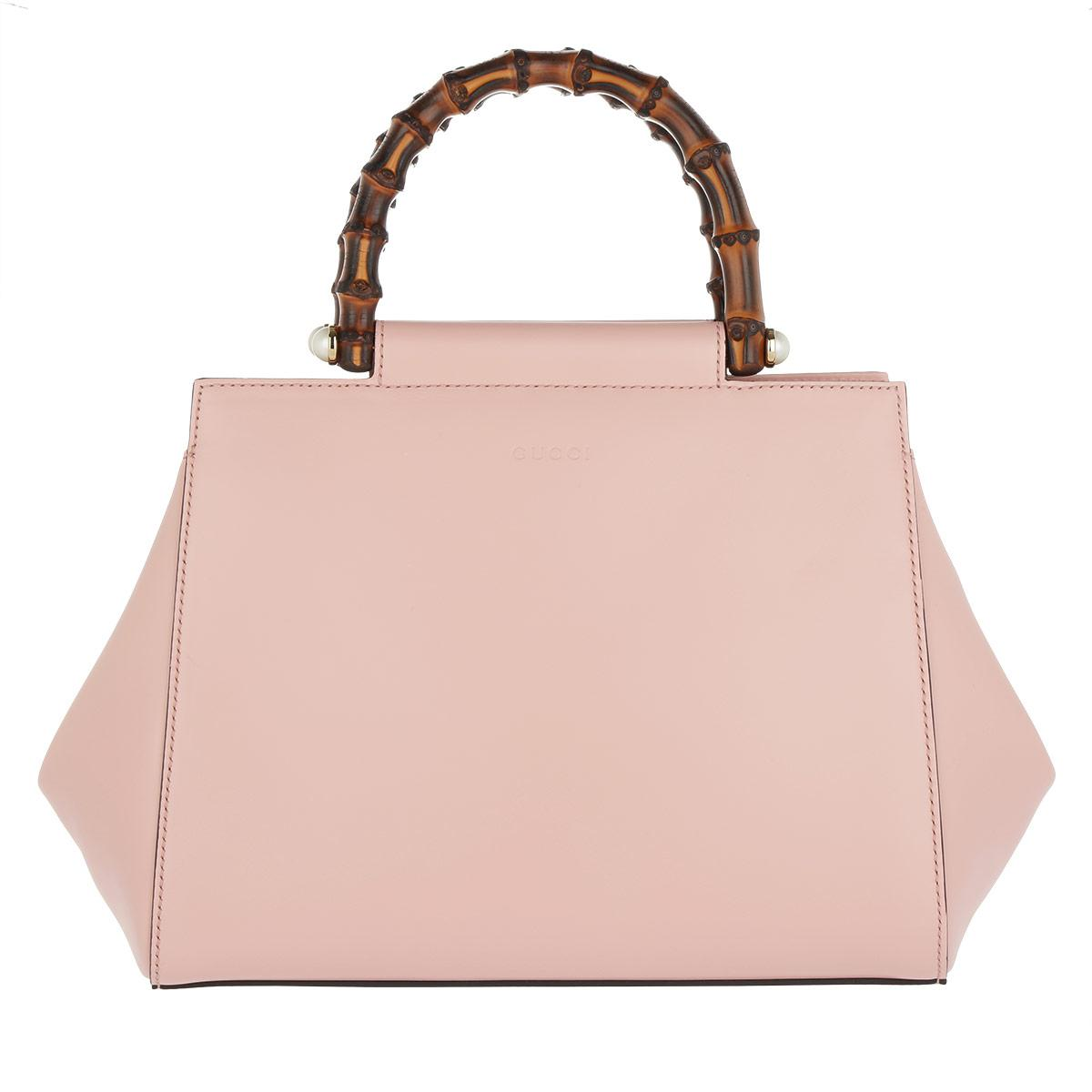 4a070c3eb Gucci Nymphaea Satchel Bag Leather Perfect Pink in Pink - Lyst