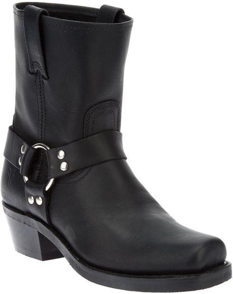 frye harness boot in black lyst