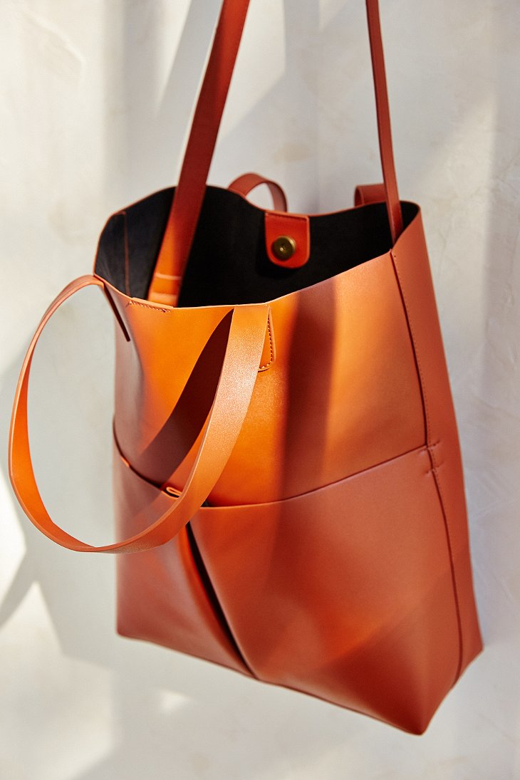 Silence   noise Oversized Tote Bag in Orange | Lyst