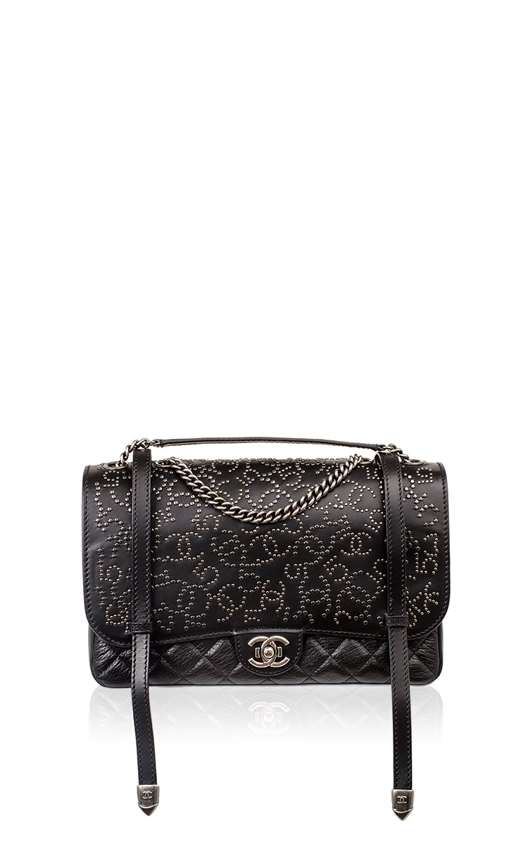 aa4a49aef9f118 Madison Avenue Couture Chanel Dallas Runway Black Studded Large ...