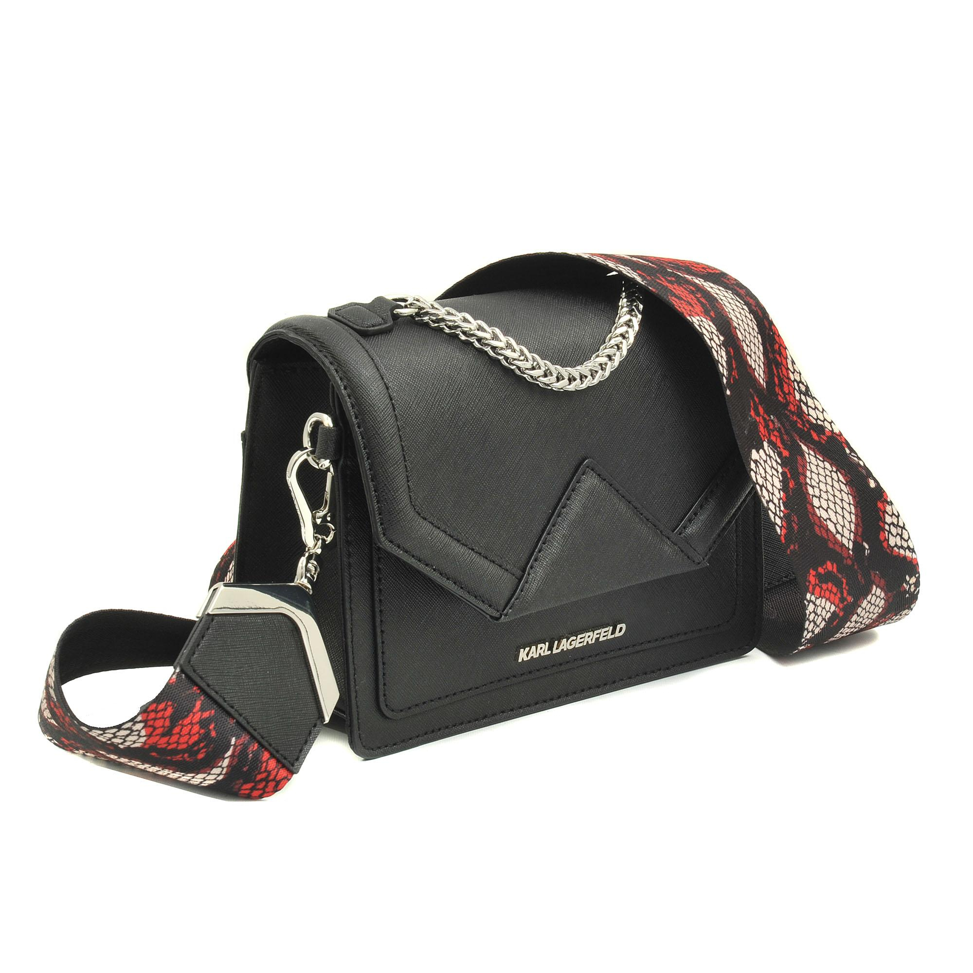 Rocky Saffiano shoulder bag - Rot Karl Lagerfeld