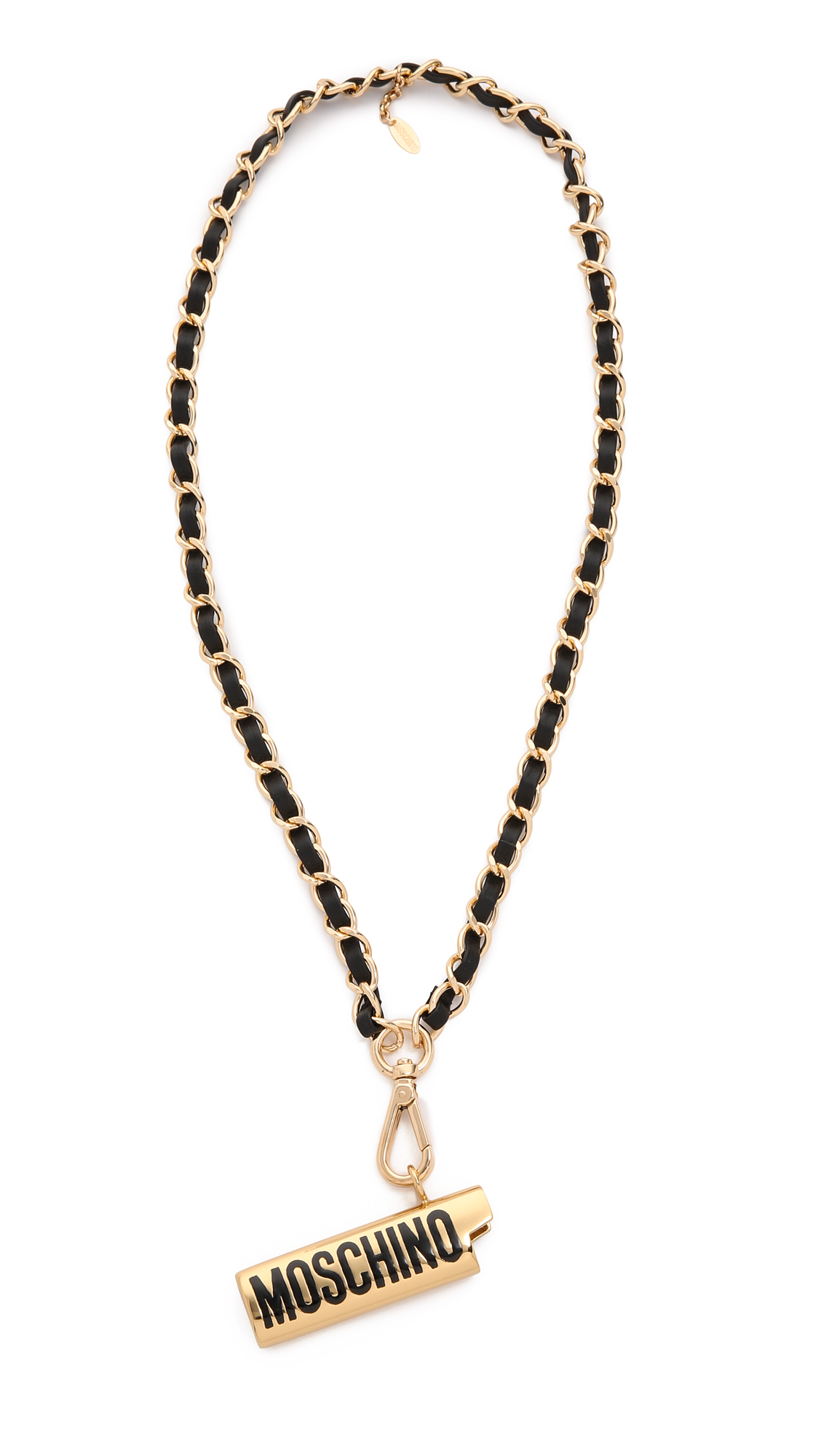 ca7fcb2aec0 Moschino Lighter Necklace - Gold in Black - Lyst